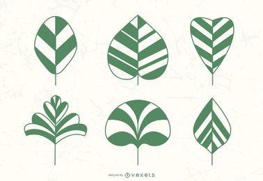 Vectores de hojas de plantas