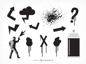 Arte de vetor de grafite de Dj