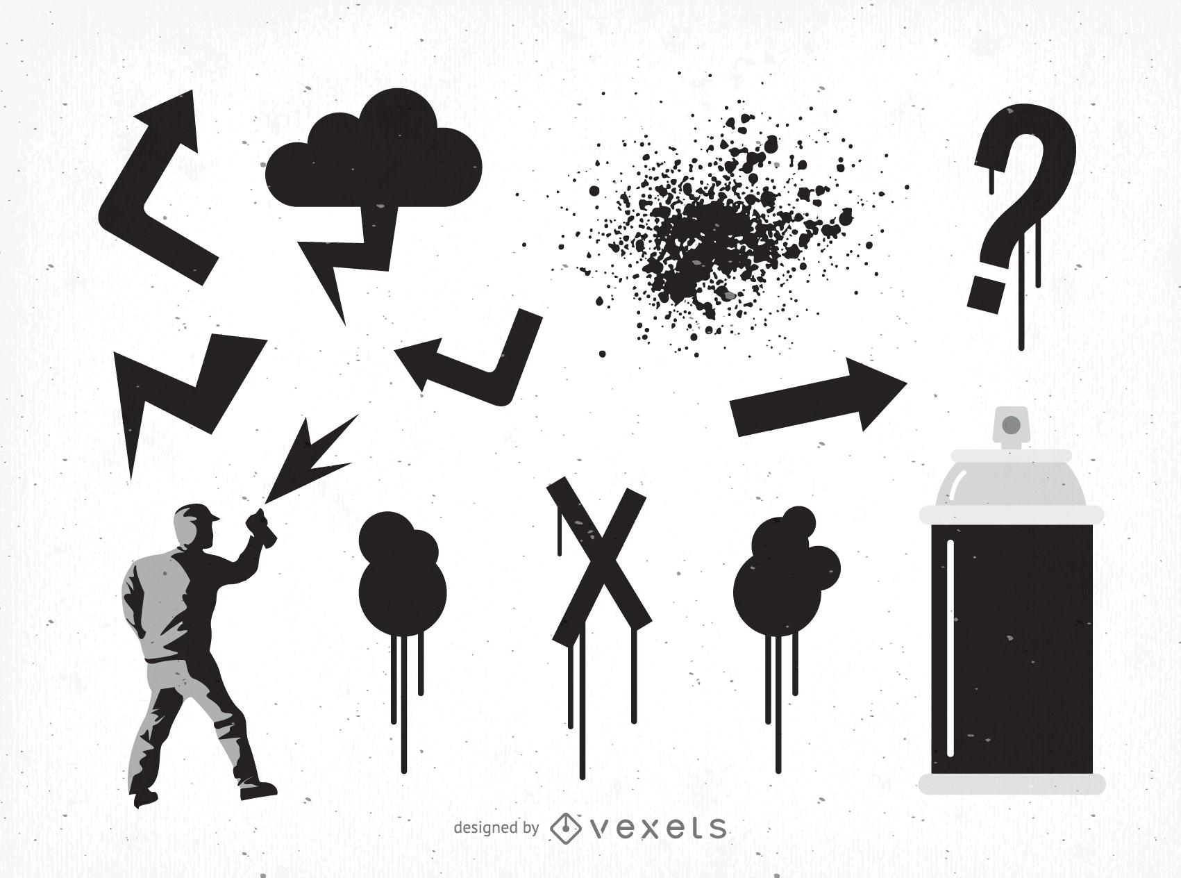 Arte vetorial de Graffiti Dj