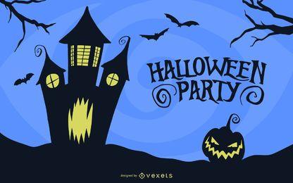 Vetor de cartão de festa de Halloween