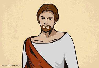 Imagem de vetor de rosto de Jesus Cristo
