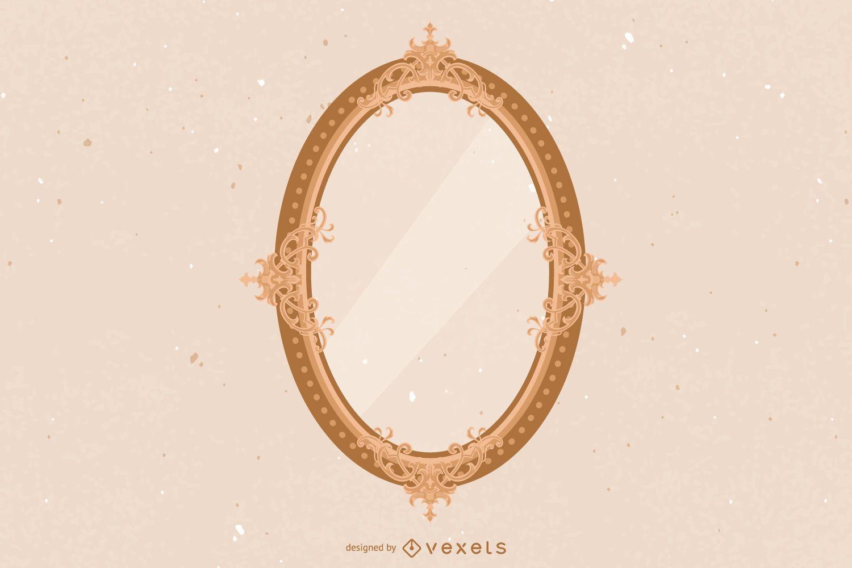 Marco ovalado decorativo detallado