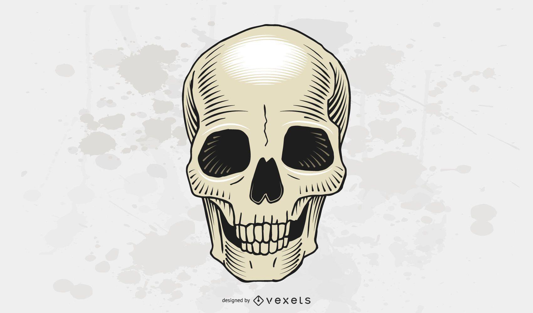 Vector libre del cráneo