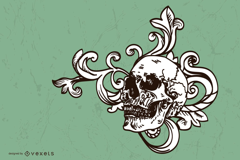 Money Skull Vector