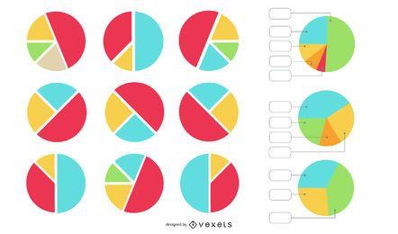 Conjunto de vectores gráfico circular