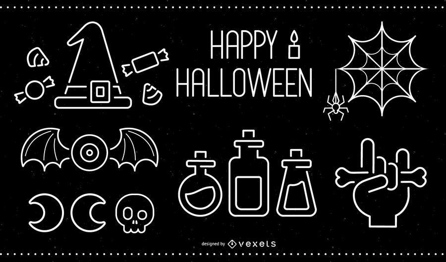 Halloween-Gestaltungselemente
