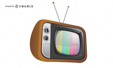 Vector libre vieja ilustración de televisión