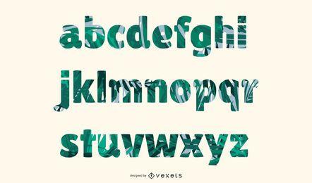 Die kreativen Buchstaben entwarfen Vektor 10