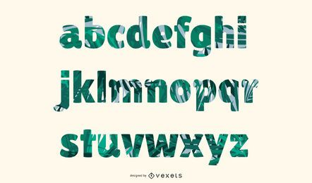 Tropical Letters Pack