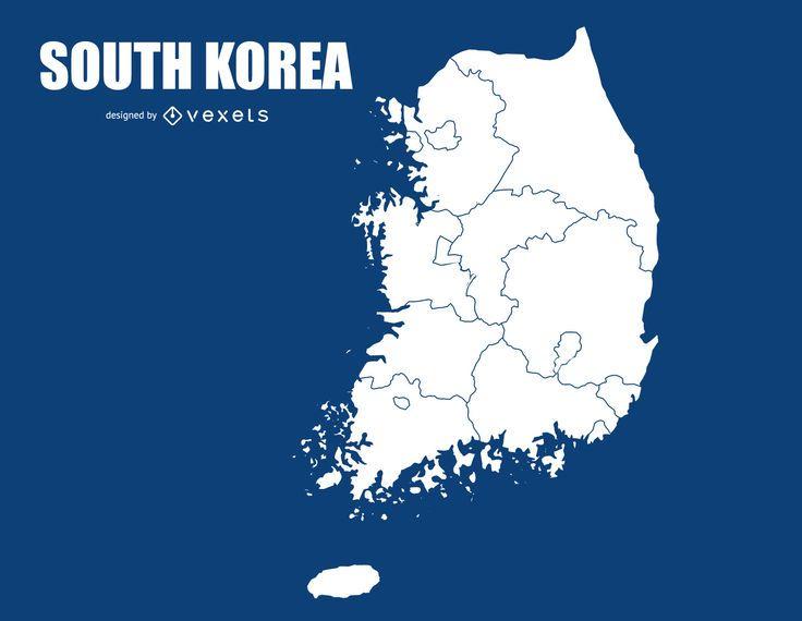 South Korea Map Design