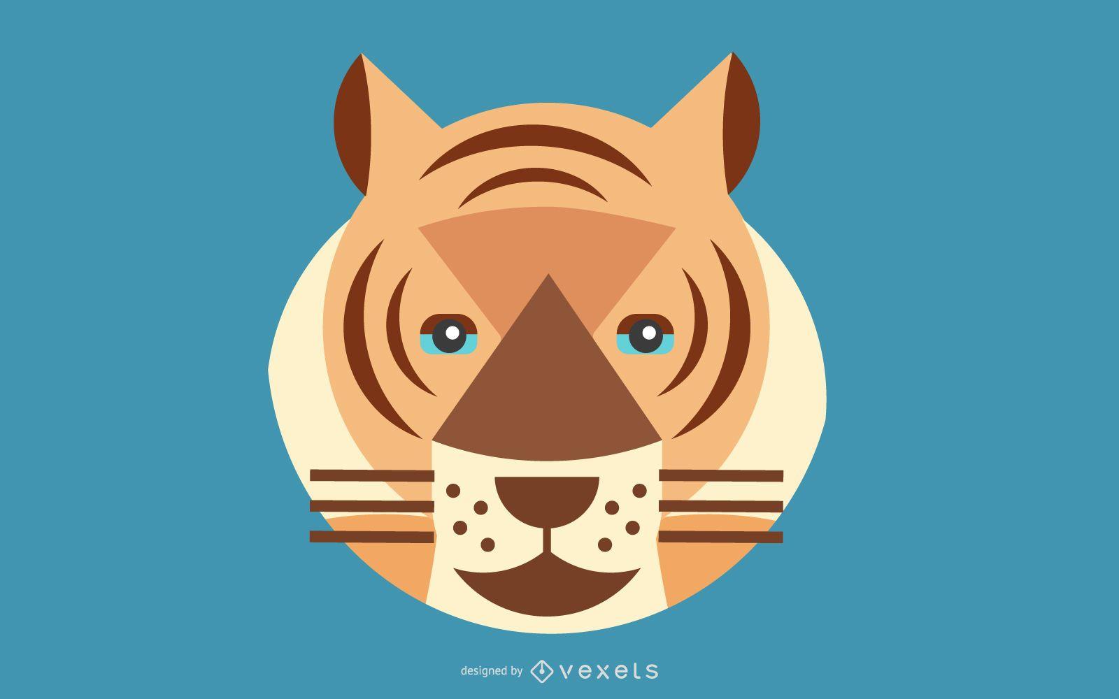 Vector de imagen de tigre 04