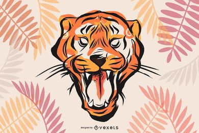 Tiger Image 26 Vector