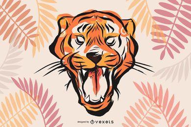 Vetor de imagem 26 de tigre