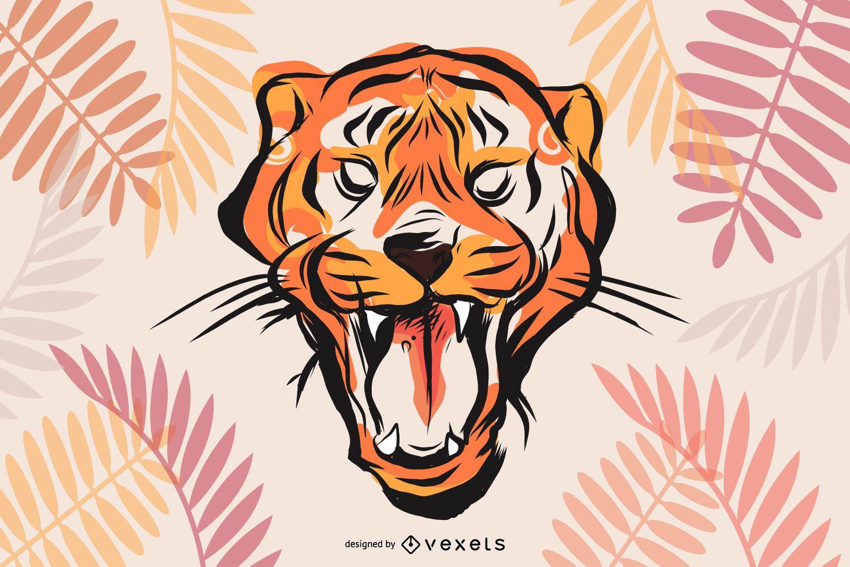 Vector de imagen de tigre 26
