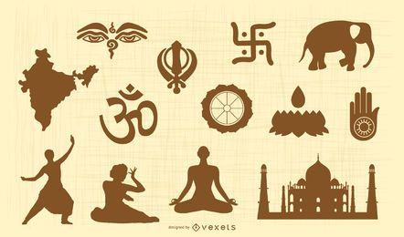 Vetor de símbolos religiosos