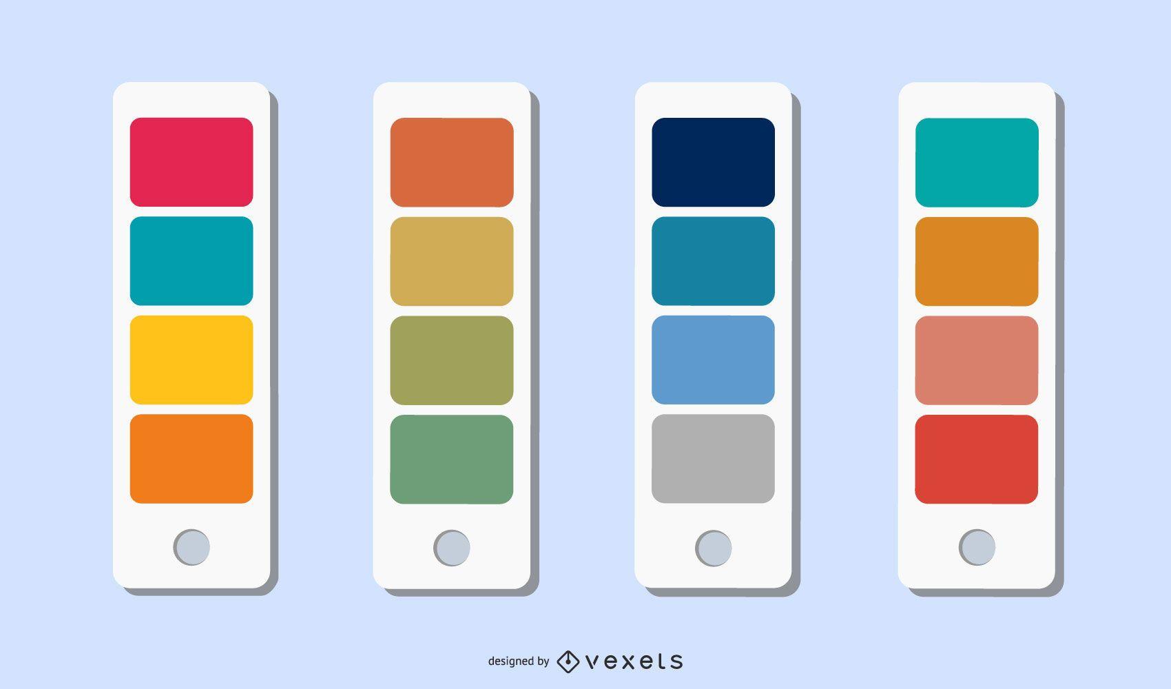 Chromatography Four Seasons Summer Color Vector