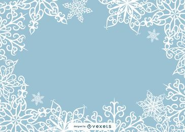 Vetor de quadro de foto de floco de neve bonito
