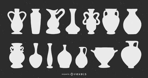 Flowers Vase silhouettes