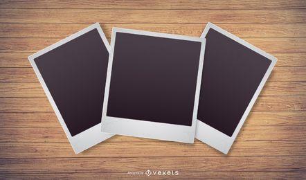 Vetor de foto Polaroid