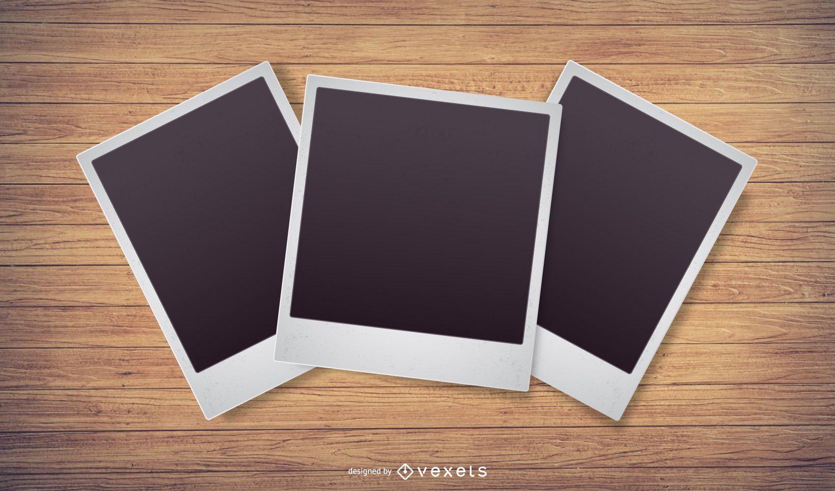 Polaroid Photo Paper Illustration