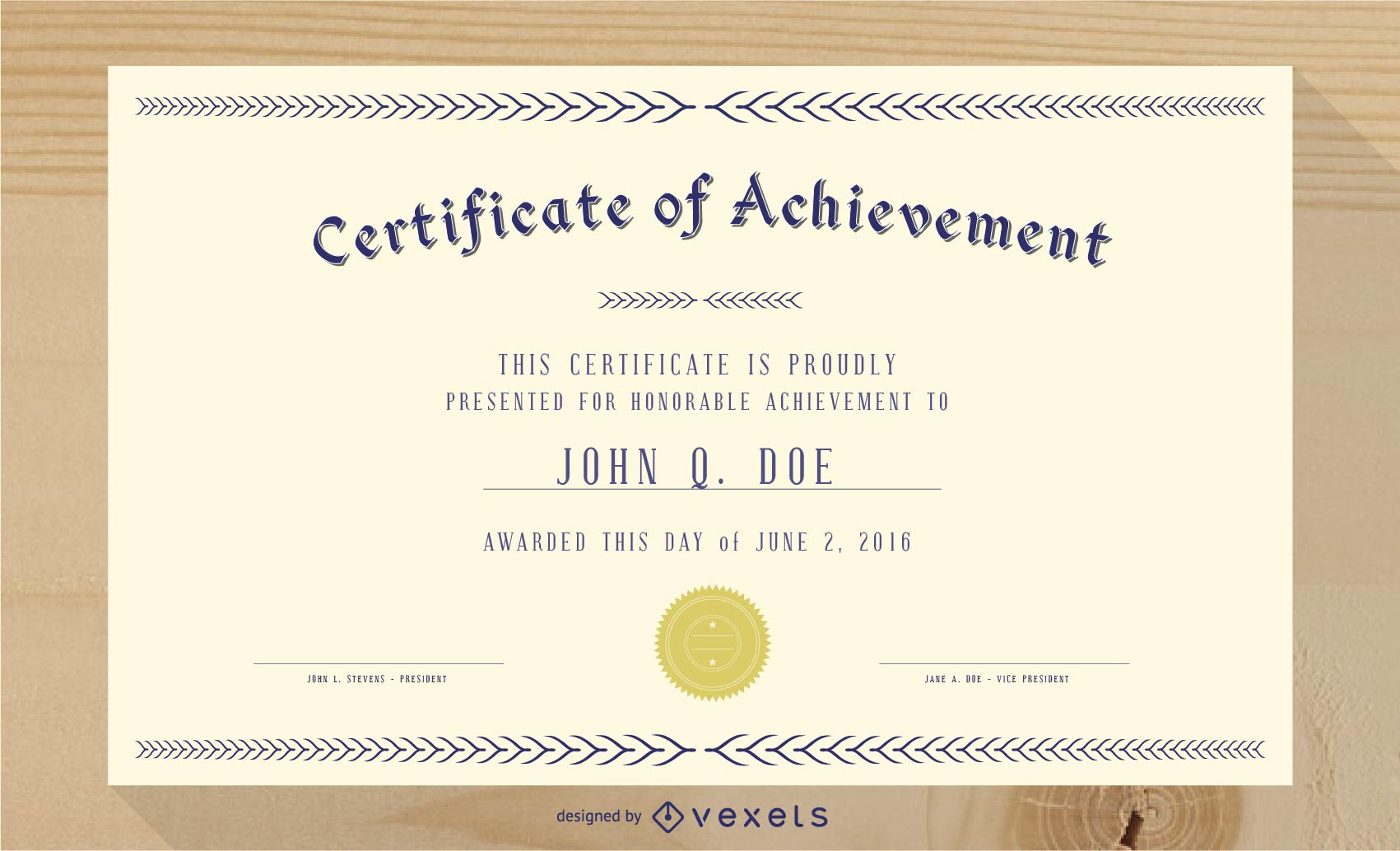Gorgeous Diploma Certificate Template 03 Vector