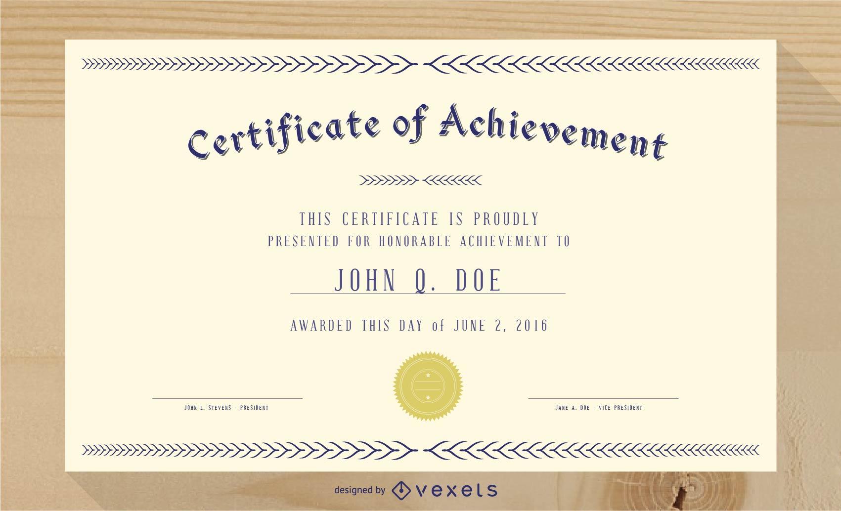 Magnífico certificado de diploma plantilla 03 Vector