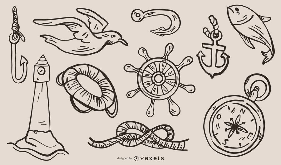 Nautical Theme Graphics Vector 2