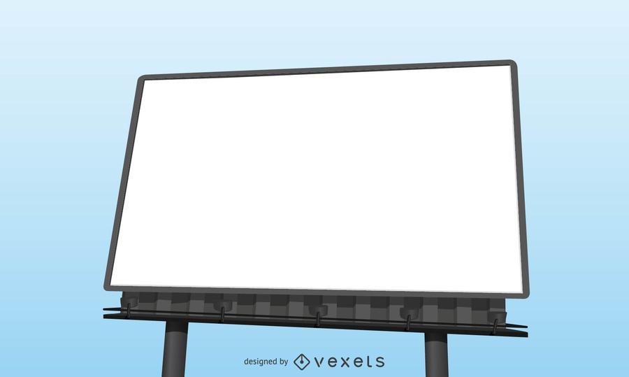 Realistic Blank Billboard Template Vector Download
