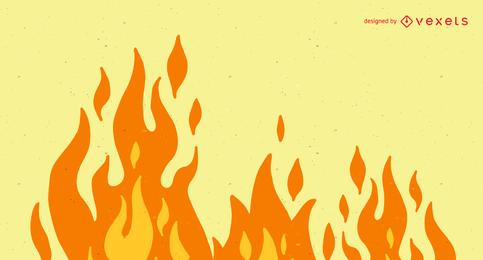 Clipe de vetor bonito flama 04