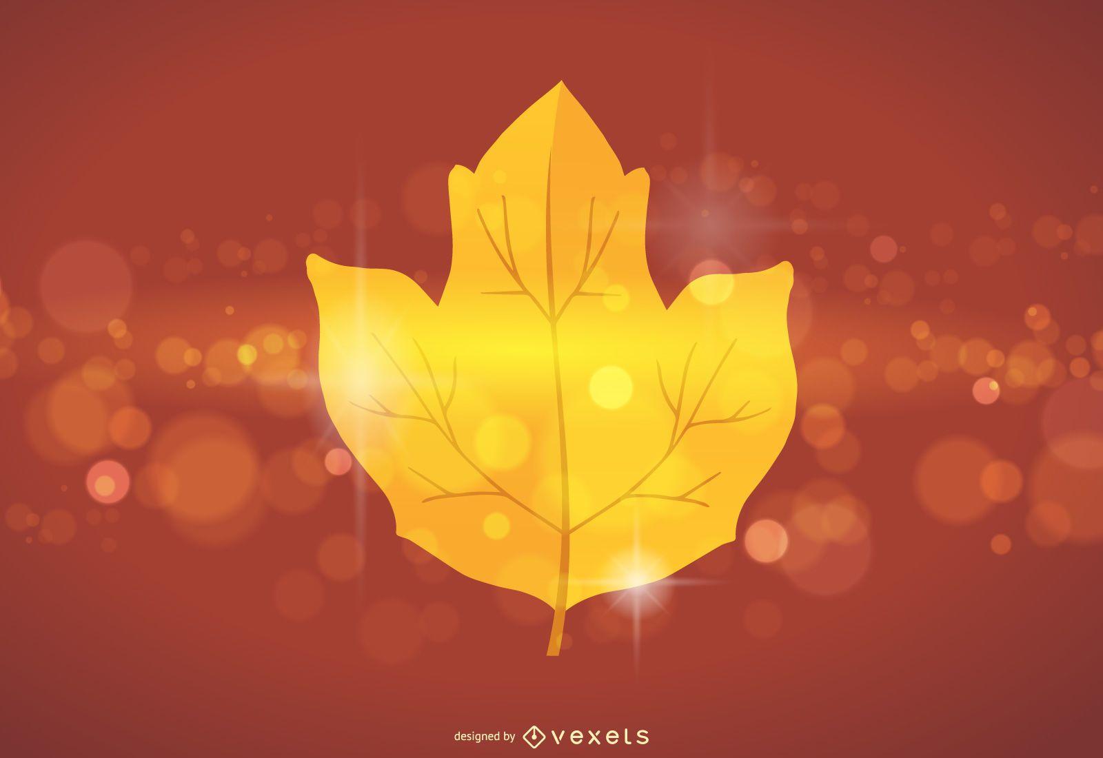 Maple Leaf Vector Glare
