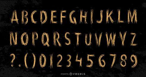 Estilo handdrawn del alfabeto inglés vector