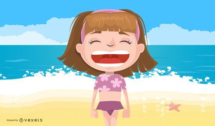 Children Summer Vector Illustration