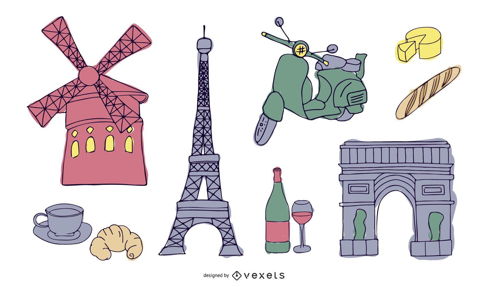 Paris France Vector 2