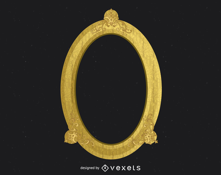 Marco de oro adornado antiguo