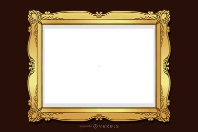 European Gorgeous Frame Vector