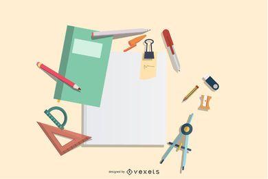 Aprendizagem de design de papelaria