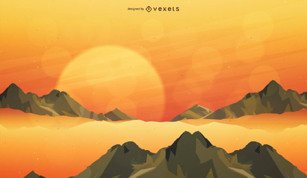 Vector tema de la puesta del sol