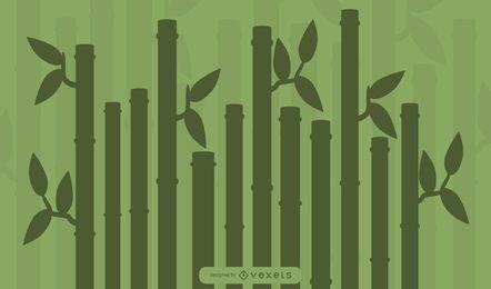 Silhueta de planta de bambu