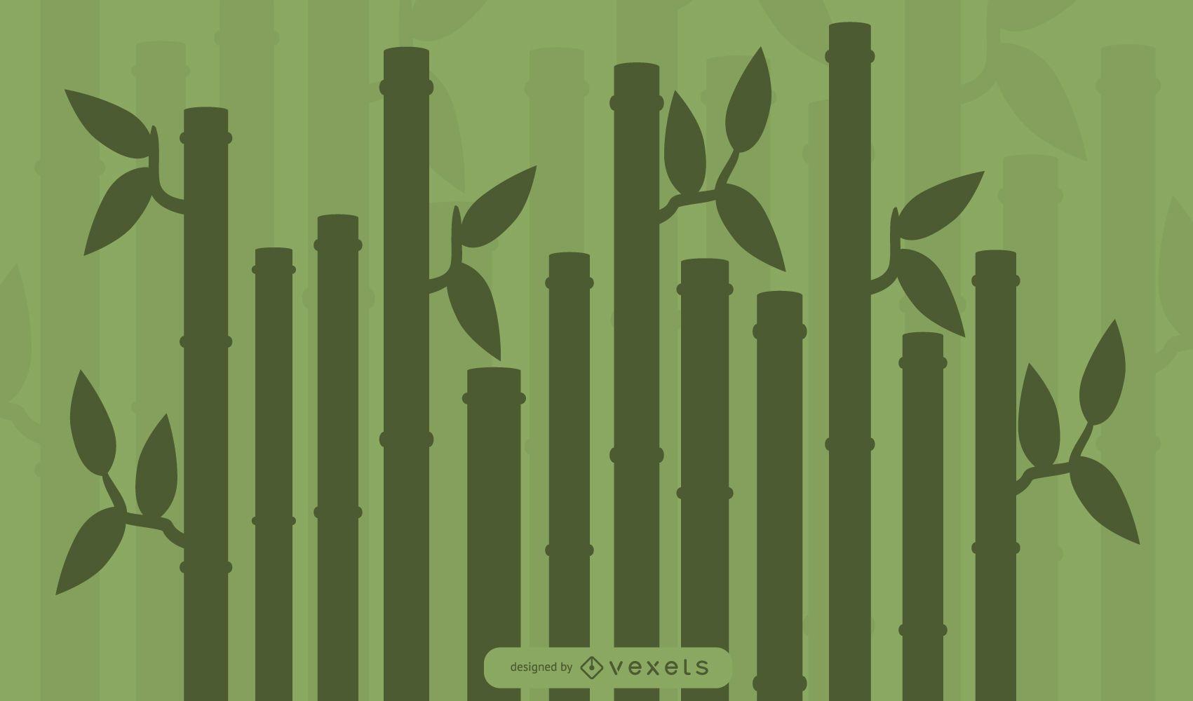 Silueta de planta de bambú