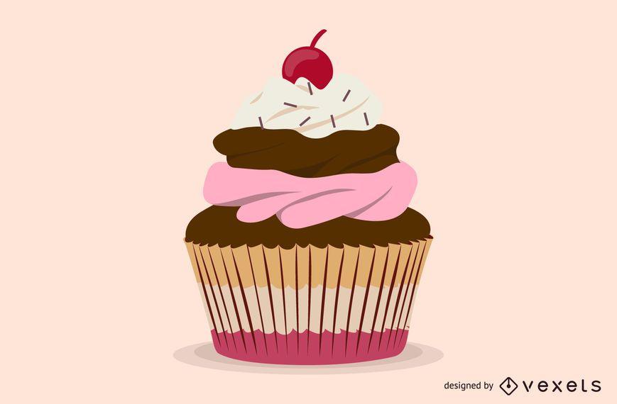 Dessert Cake Vector
