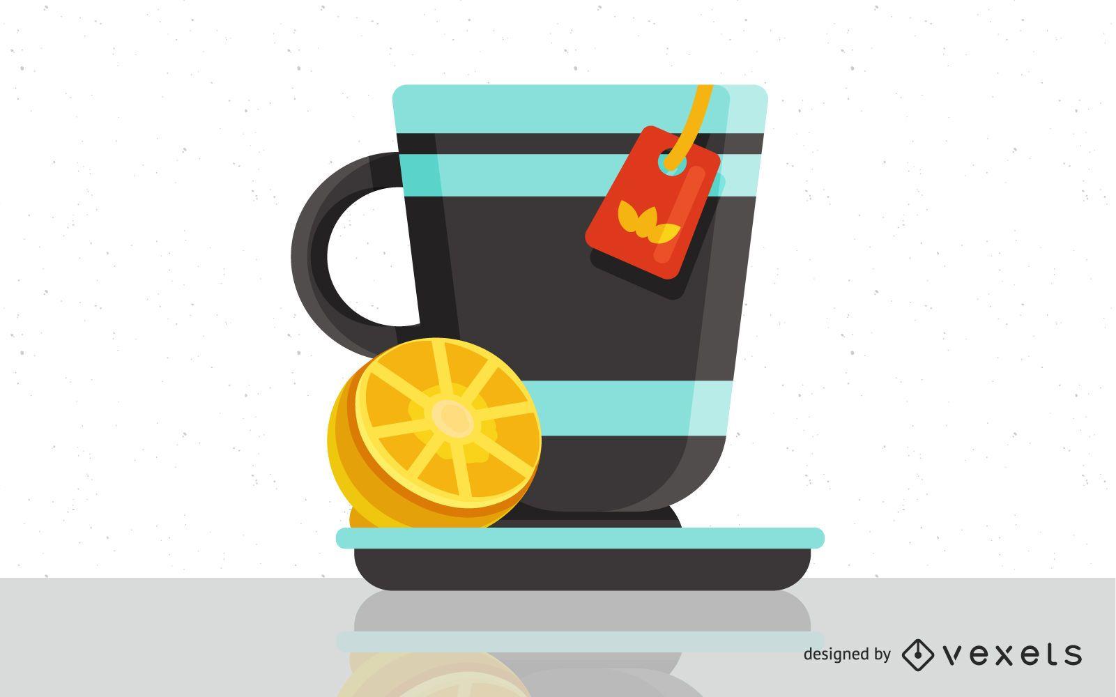 Uma xícara de chá vetorial
