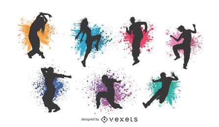 Figuras clasicas de baile vector