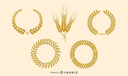 Vector de trigo dorado