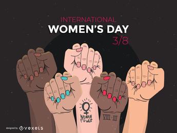Vetor de tema do dia das mulheres