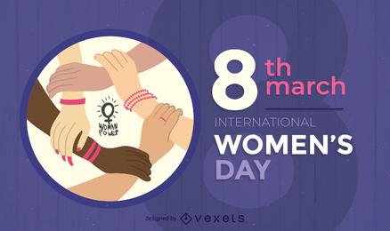 38 Frauentag Thema Vektor 2