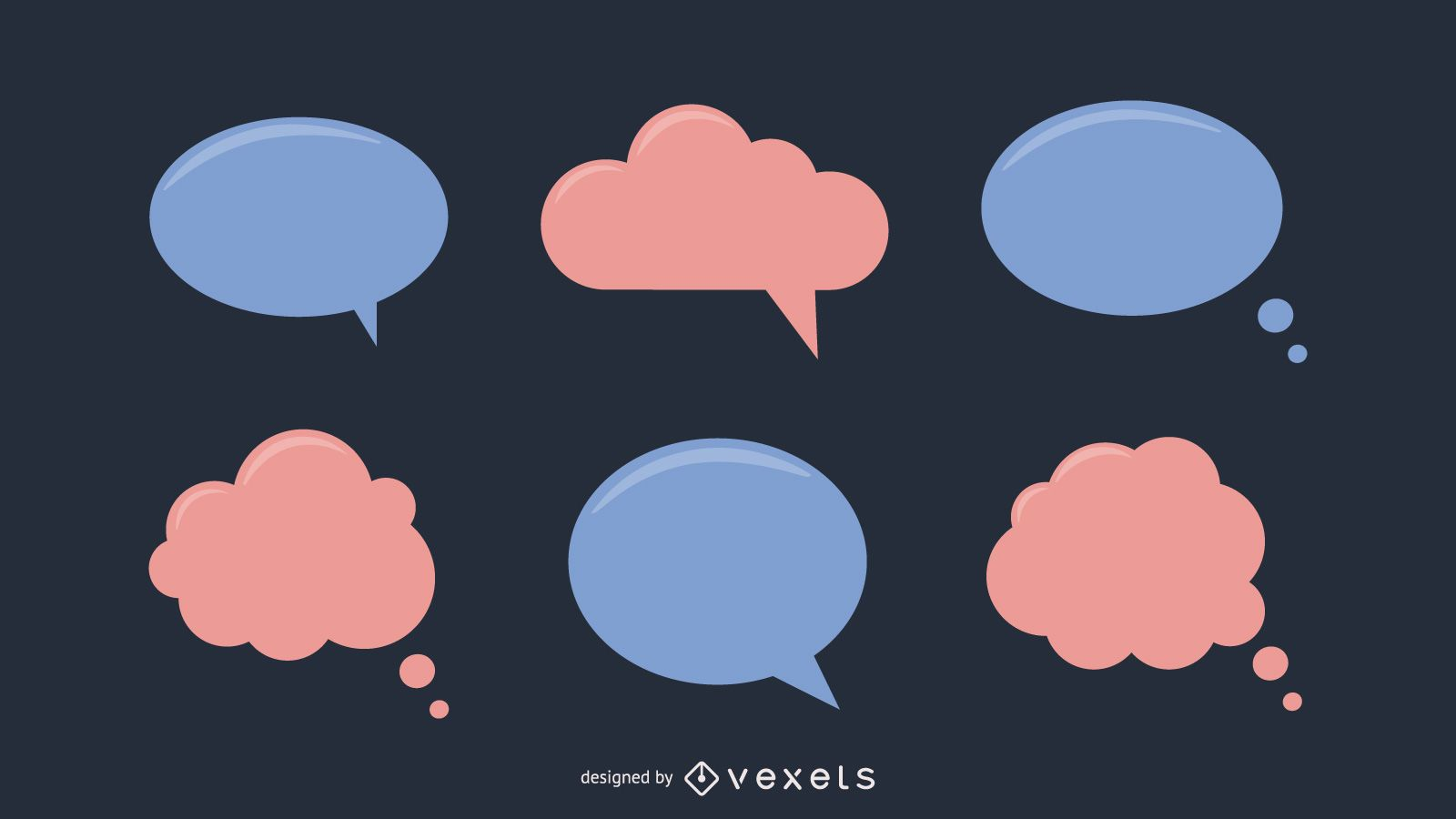 Colored Speech Bubble Pack