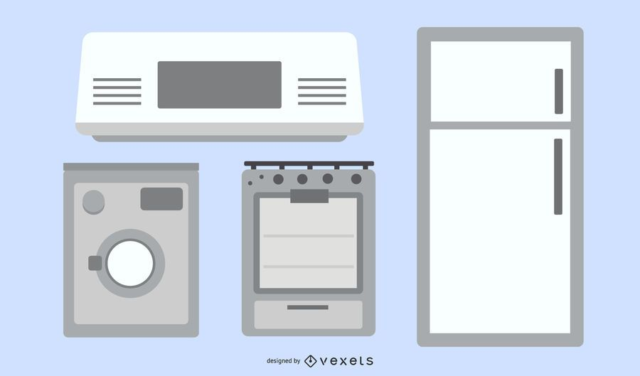 Electrodomésticos 03 Vector