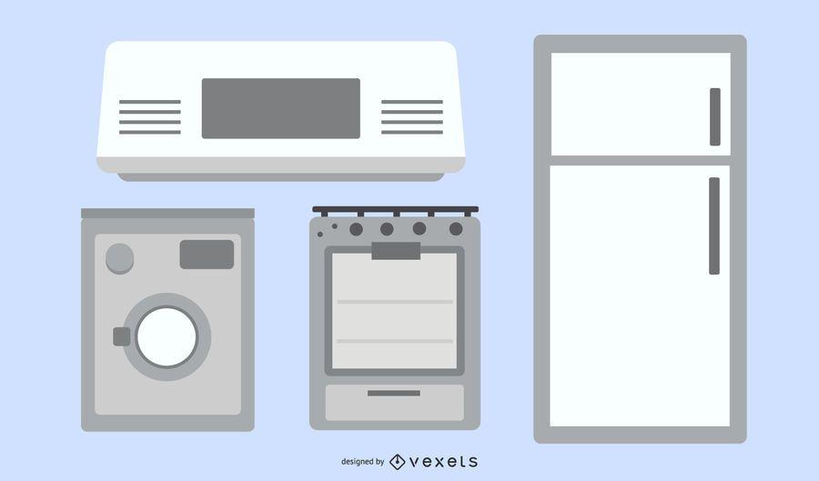 Home Appliances Vector Set