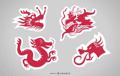 Vetor de Papercut principal de China