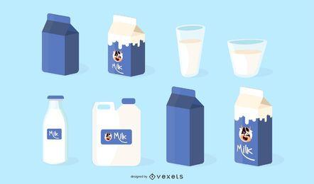 Todo el vector relacionado con la leche